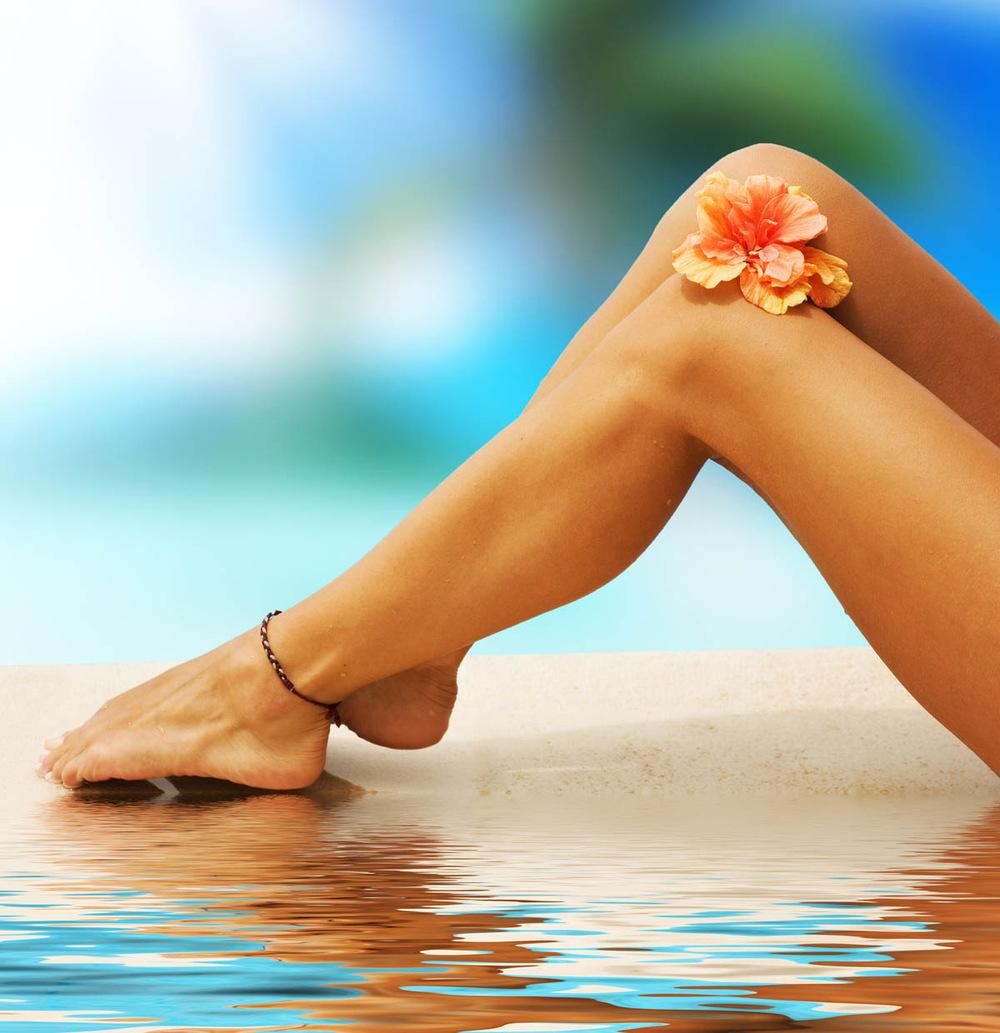 Как сделать чтобы ноги хорошо загорели