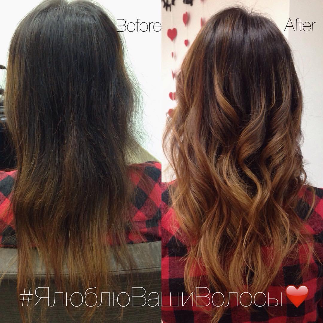 Чёрный цвет волос оттенки фото до и после